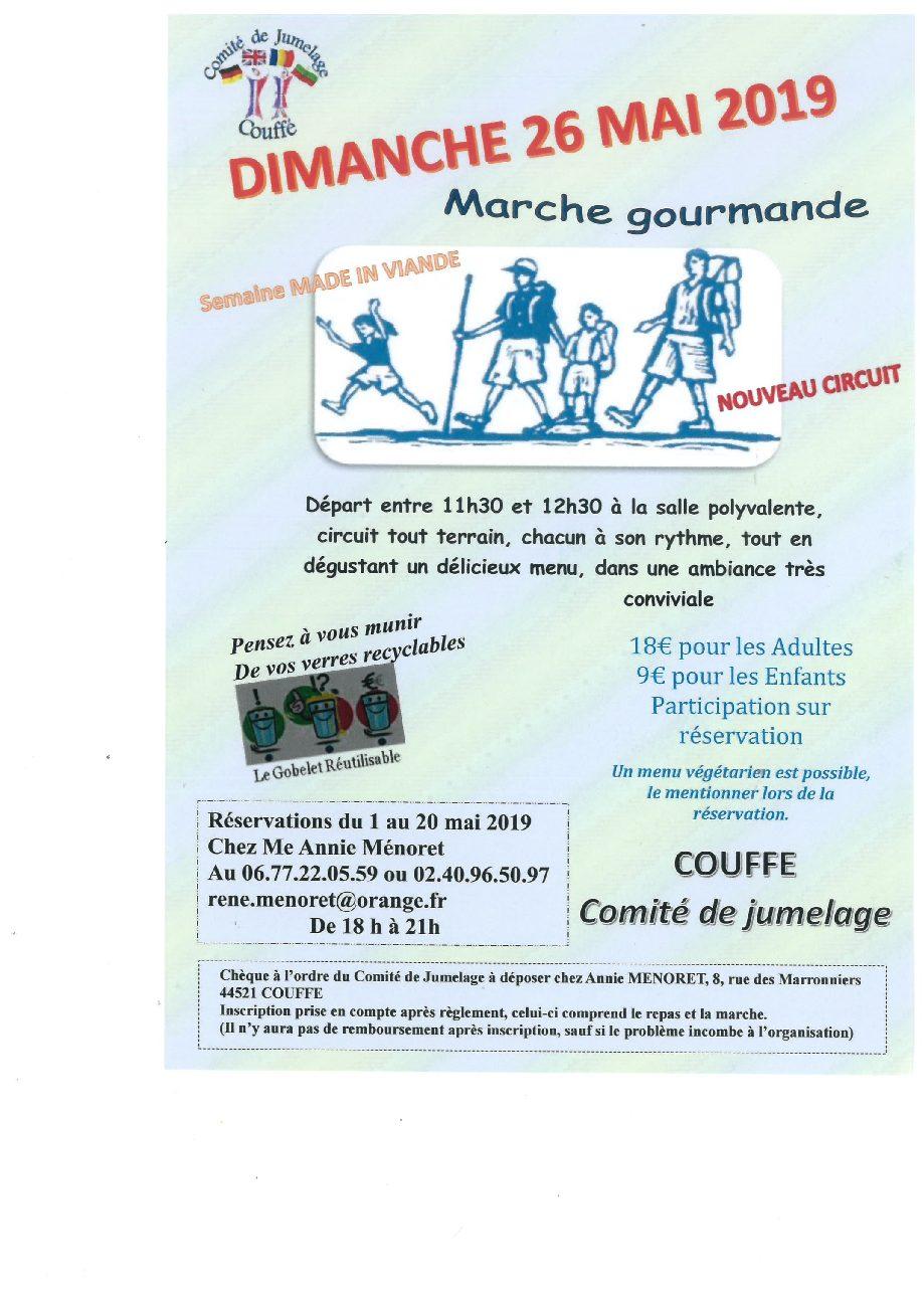 Marche gourmande 26 mai 2019 à COUFFE